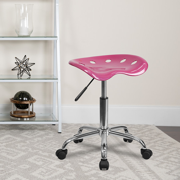 Pink Tractor Stool
