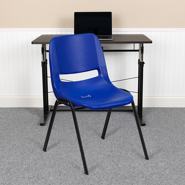Blue Plastic Stack Chair