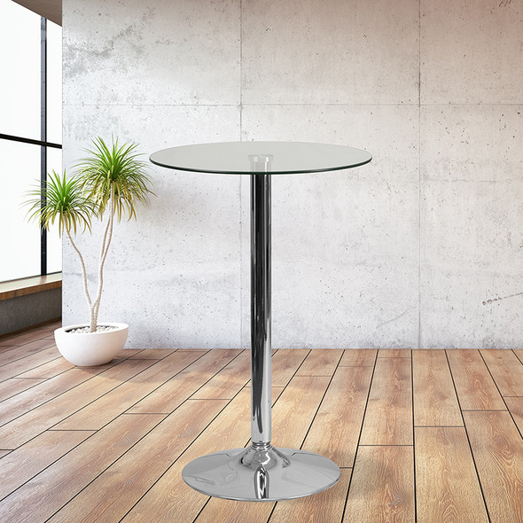 23.75rd Glass Table-41.75 Base