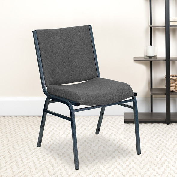 Gray Fabric Stack Chair - FLXU-60153-GY-GG