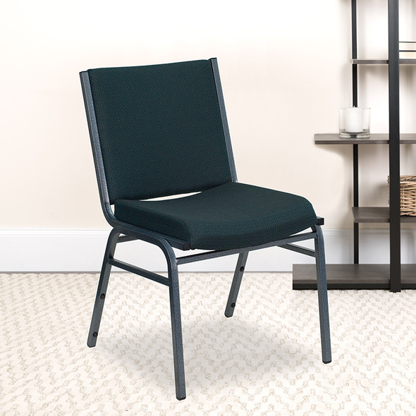 Green Fabric Stack Chair