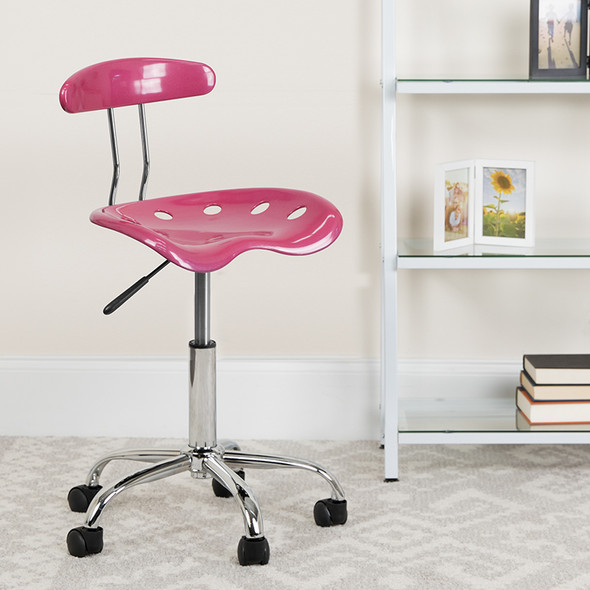 Pink Tractor Task Chair