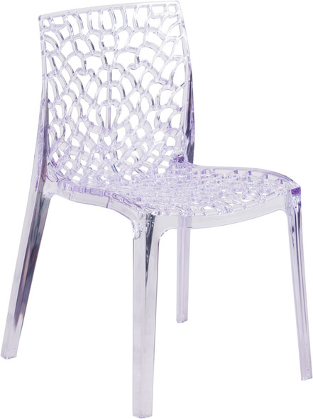 Clear Stacking Side Chair - FLFH-161-APC-GG