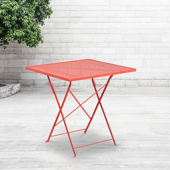 28sq Coral Folding Patio Table