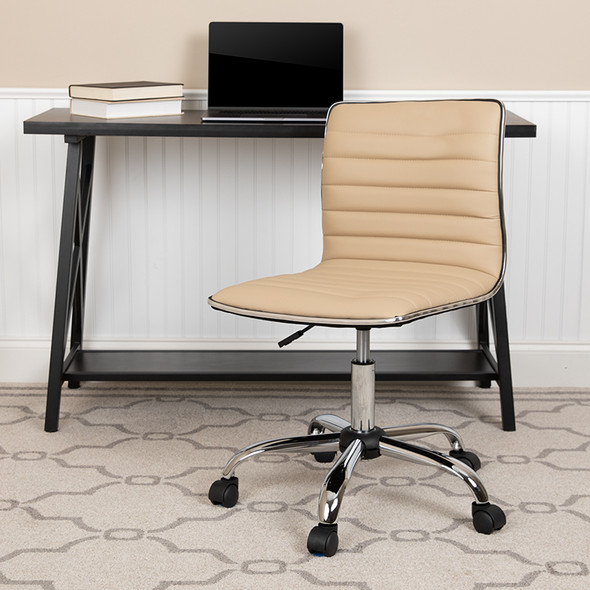 Tan Ribbed Task Office Chair