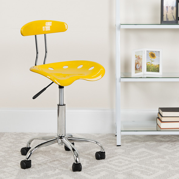 Yellow Tractor Task Chair