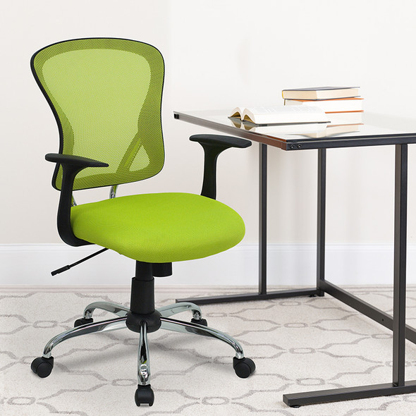 Green Mid-back Task Chair - FLH-8369F-GN-GG