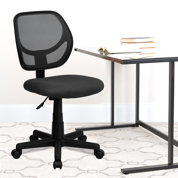 Gray Low Back Task Chair - FLWA-3074-GY-GG