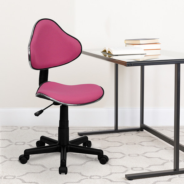 Pink Low Back Task Chair