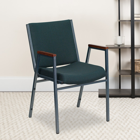 Green Fabric Stack Armchair