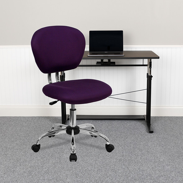 Purple Mid-back Task Chair - FLH-2376-F-PUR-GG