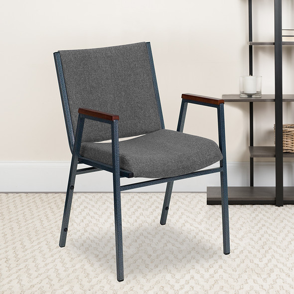 Gray Fabric Stack Armchair