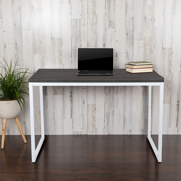 Rustic Gray Commercial Desk - FLGC-GF156W-12-GRY-GG