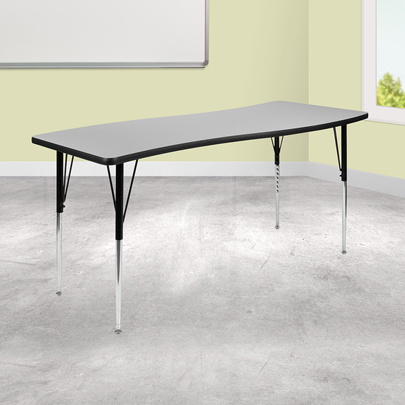 """26""""wx60""""l Grey Activity Table - FLXU-A3060-CON-GY-T-A-GG"""