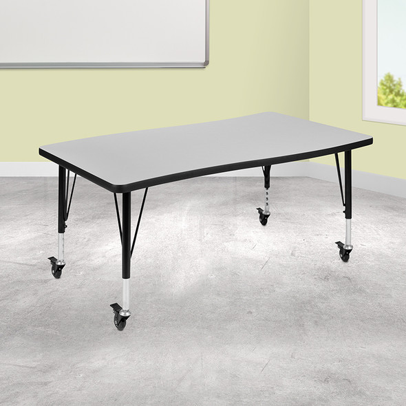 """28""""wx48""""l Grey Activity Table - FLXU-A3048-CON-GY-T-P-CAS-GG"""