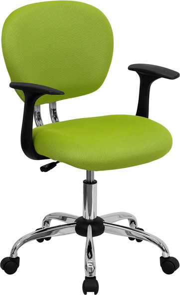 Apple Grn Mid-back Task Chair - FLH-2376-F-GN-ARMS-GG