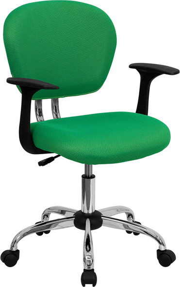 Bright Green Mid-back Task - FLH-2376-F-BRGRN-ARMS-GG