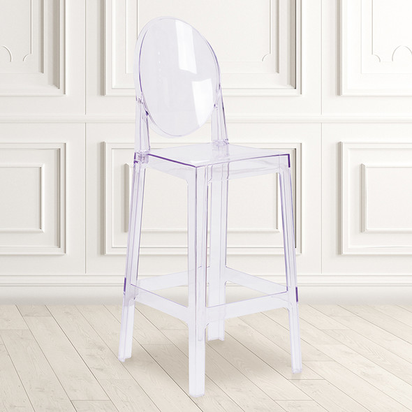 Oval Back Ghost Barstool