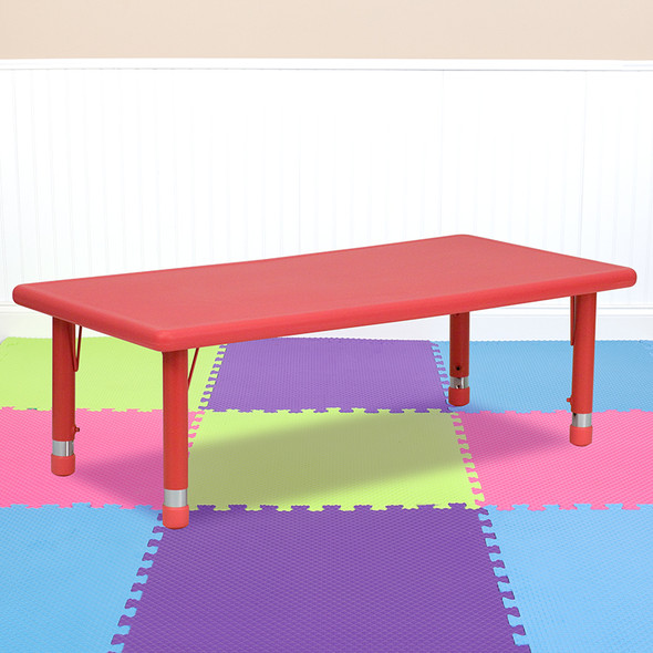 Red Preschool Activity Table - FLYU-YCX-001-2-RECT-TBL-RED-GG