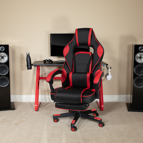 Red Reclining Gaming Chair - FLCH-00288-RED-GG