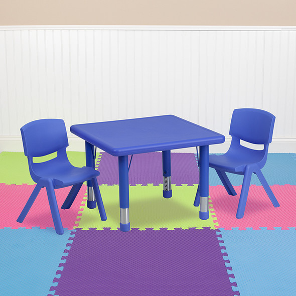 24sq Red Activity Table Set
