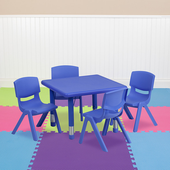 24sq Red Activity Table Set - FLYU-YCX-0023-2-SQR-TBL-RED-E-GG