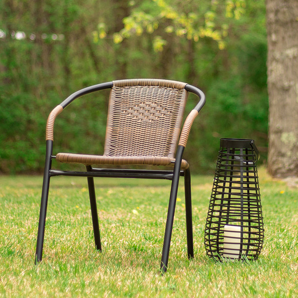 Brown Rattan Stack Chair