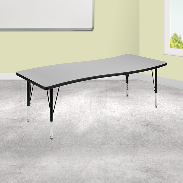 """26""""wx60""""l Grey Activity Table - FLXU-A3060-CON-GY-T-P-GG"""