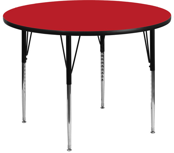 48 Rnd Red Activity Table - FLXU-A48-RND-RED-H-A-GG