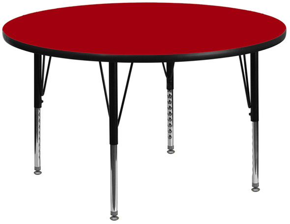 42 Rnd Red Activity Table - FLXU-A42-RND-RED-T-P-GG