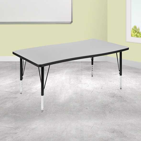 """28""""wx48""""l Grey Activity Table - FLXU-A3048-CON-GY-T-P-GG"""