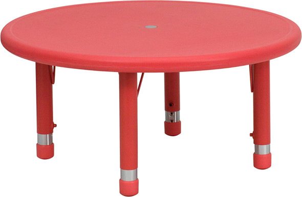 Red Preschool Activity Table - FLYU-YCX-007-2-ROUND-TBL-RED-GG