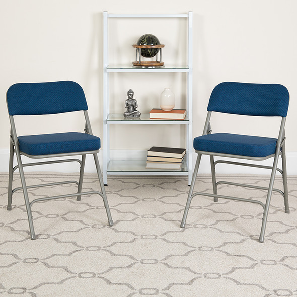 Navy Fabric Folding Chair - FLAW-MC320AF-NVY-GG