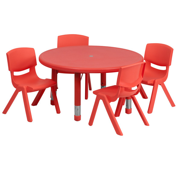 33rd Red Activity Table Set - FLYU-YCX-0073-2-ROUND-TBL-RED-E-GG