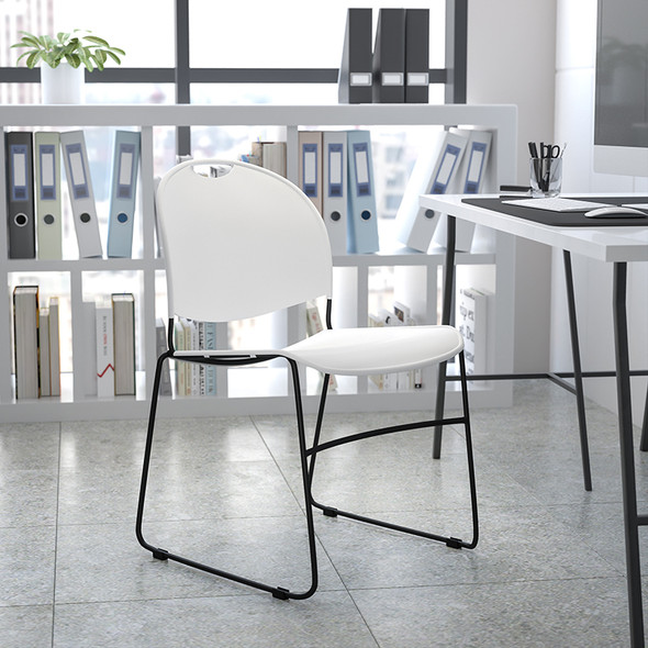 Black Stack Chair Dolly - FLRUT-188-DOLLY-GG