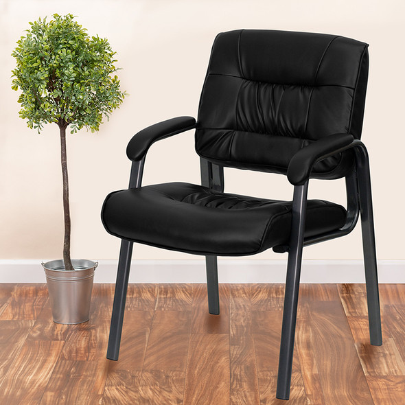 Black Leathersoft Side Chair