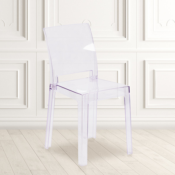 Clear Square Back Ghost Chair