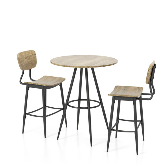 Shandry 3-Piece Counter Height Dining Set in Gray