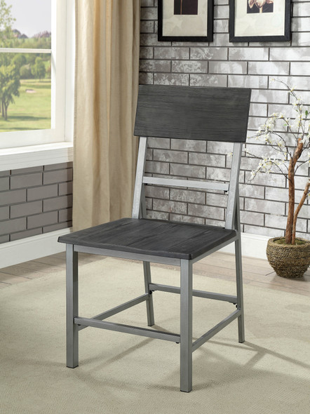 Avery Industrial Metal Frame Side Chairs (Set of 2)