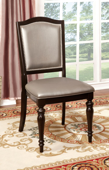 Harry Transitional Faux Leather Padded Side Chairs (Set of 2)