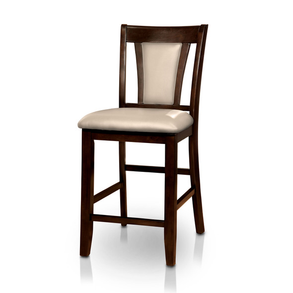 Dolen Transitional Padded Counter Height Chairs in Dark Cherry (Set of 2)