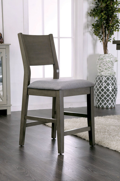 Judah Contemporary Padded Counter Height Chairs (Set of 2)