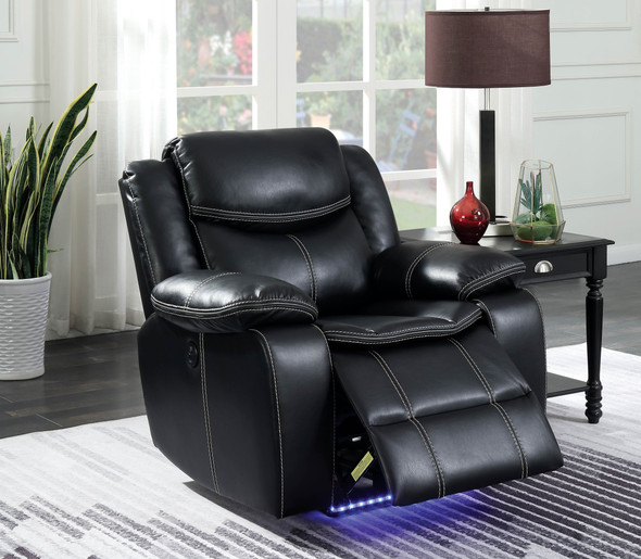 Casey Contemporary Recliner with LED Lights