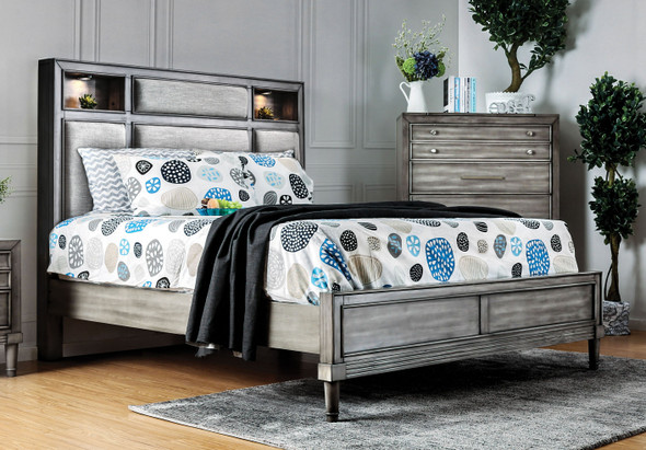 Behn Transitional Solid Wood Panel Bed