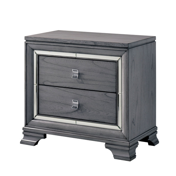 Phinnes Contemporary 2-Drawer Nightstand