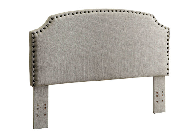 Afy Contemporary Full/Queen Upholstered Headboard in Beige