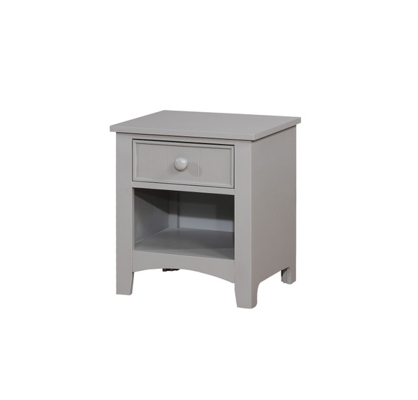 Tammy Transitional Open Storage Nightstand in Gray