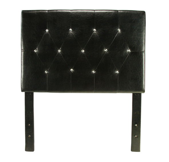 Ervin Contemporary Faux Leather Tufted Headboard in Twin