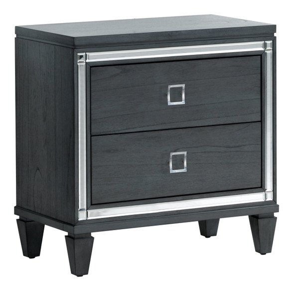 Hariel Contemporary 2-Drawer Nightstand