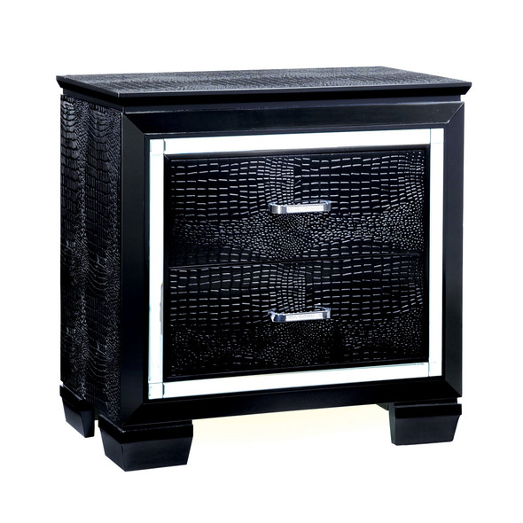Balitoria Contemporary 2-Drawer Nightstand in Black